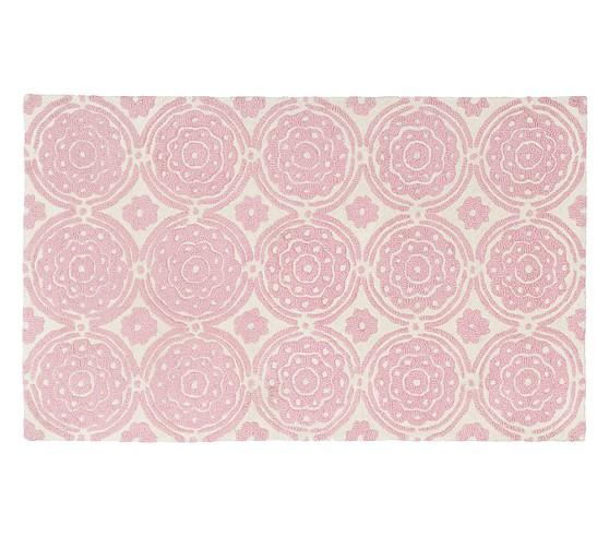 Sweet Flower Rug 3x5' Pink