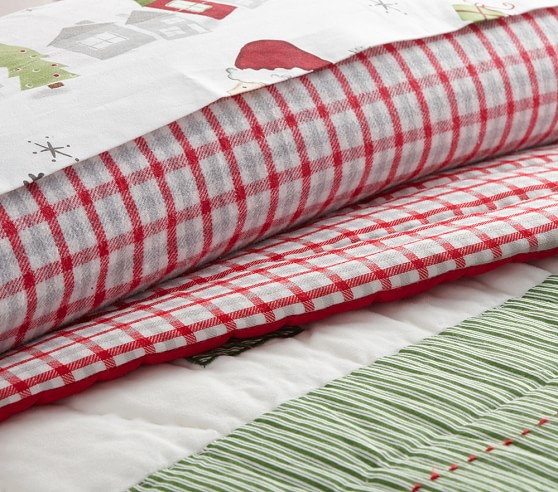North Pole Quilted Bedding Pottery Barn Kids