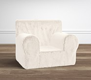Anywhere Chair® Slipcover, Ivory Fur