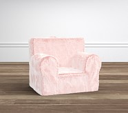 My First Anywhere Chair Slipcover, Pink Fur