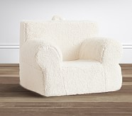 Cream Sherpa Oversized Anywhere Chair#&174; Slipcover Only