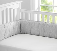 Solid Essential Crib Fitted Sheet, White
