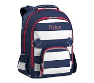 Large Backpack, Fairfax Stripe Navy/White, No Patch