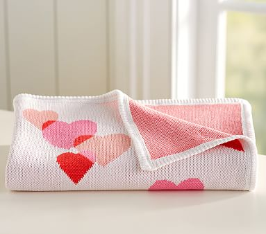 Valentine Knit Baby Blanket Pottery Barn Kids