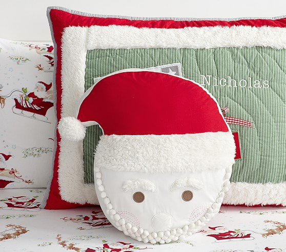 Decorative Pillows At Pottery Barn : Santa Decorative Pillow Pottery Barn Kids