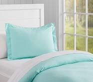Organic Cotton Duvet Cover, Aqua
