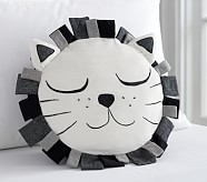 The Emily & Meritt Sleepy Lion Pillow