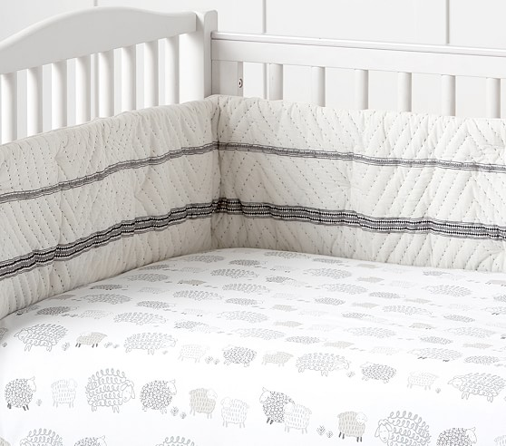 Organic Sleepy Sheep Crib Fitted Sheet