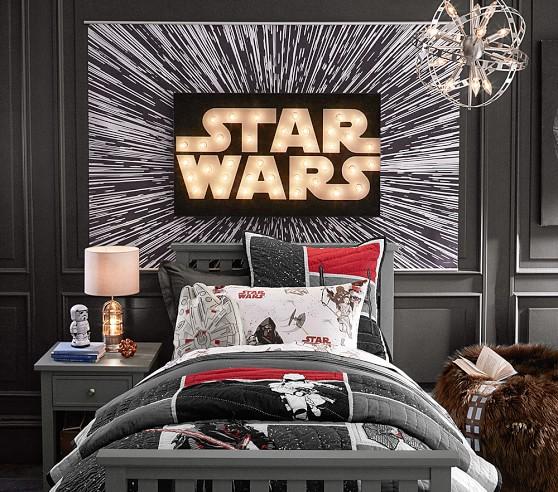 star wars hyperdrive mural pottery barn kids. Black Bedroom Furniture Sets. Home Design Ideas
