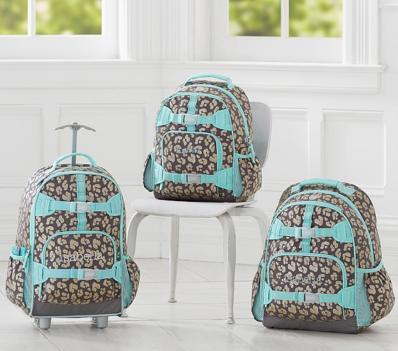 Mackenzie Gray Glitter Cheetah Backpack | Pottery Barn Kids