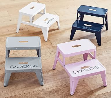 Personalized Metal Step Stools Pottery Barn Kids