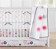 Margherita Missoni Pom Pom Daisy Toddler Quilt, White Multi