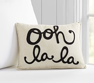 Ooh Lala Nursery Decorative Pillow, 12x16 Inches, Gold