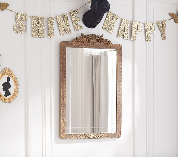 emily meritt gold sequin letters garlands pottery barn kids