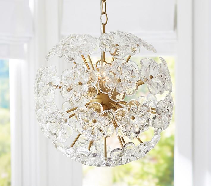 flower pop chandelier  pottery barn kids, Lighting ideas