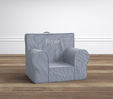 Navy Gingham My First Anywhere Chair 174 Pottery Barn Kids