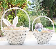 White Sabrina Easter Baskets, Mini
