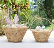 Small Gold Rope Easter Basket