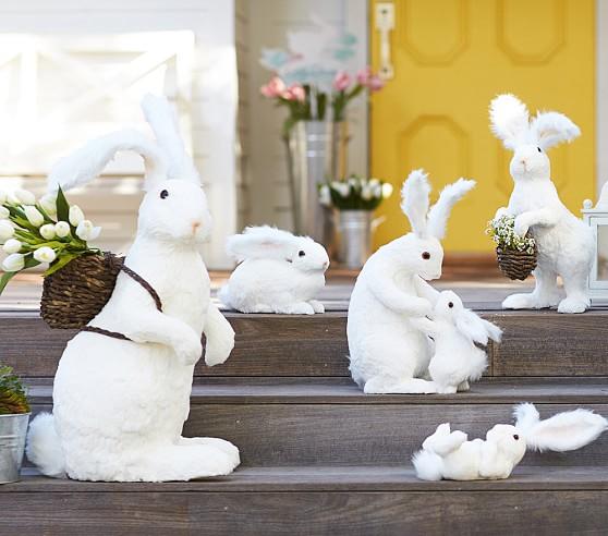 White sisal bunny decor pottery barn kids for Sisal decoration