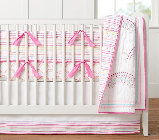 Rainbow bumper pottery barn kids for Rock n roll baby crib set