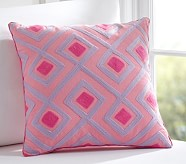 Diamond Geo Decorative Sham, Pink