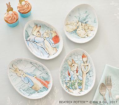 Peter Rabbit Easter Ceramic Plate Set Pottery Barn Kids