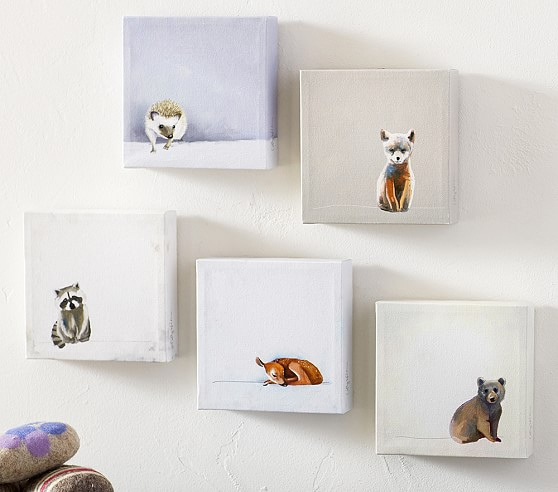 Pottery Barn Kids Invisible Ink: Baby Animals Framed Art - Set Of 5