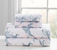 Clara Sateen Horses Sheet Set, Twin, Light Pink