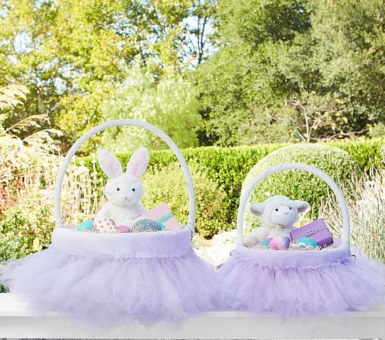 Lavendar Tulle Tutu Easter Basket Liner Pottery Barn Kids