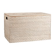 Quinn Toy Chest - White Washed XL Lidded Storage