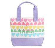 Mini Preppy Icon Tote Rainbow Hearts