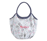 Slouchy Tote- Allover Butterflies