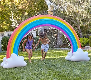 Rainbow Inflatable Sprinkler Pottery Barn Kids