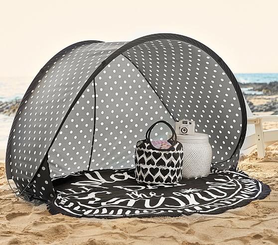 black white polka dot family pop up tent pottery barn kids. Black Bedroom Furniture Sets. Home Design Ideas