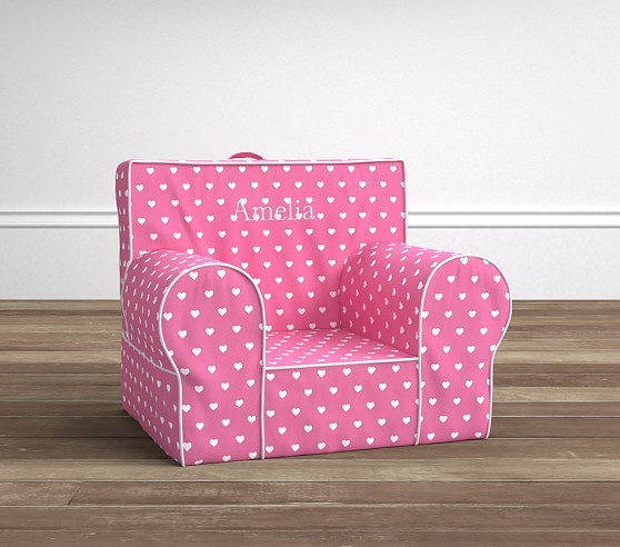 Pottery Barn Pink Chair: Bright Pink Heart Anywhere Chair®