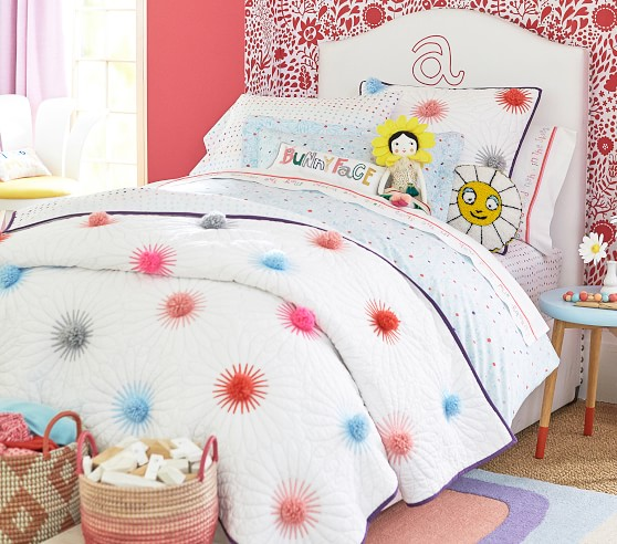 Margherita Missoni Pom Pom Daisy Quilted Bedding Pottery