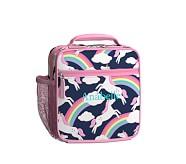 Classic Lunch Bag, Mackenzie Navy/Pink Rainbow Unicorn