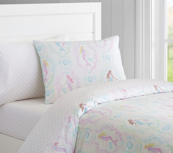 Bailey Mermaid Duvet Cover Pottery Barn Kids