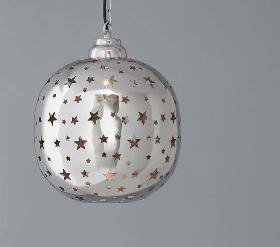 Piereced star pendant pottery barn kids