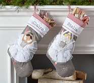 Blonde Ballerina Quilted Stocking