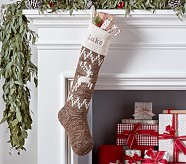 Fair Isle Stocking - Reindeer