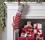 Natural Fair Isle Stocking - Santa
