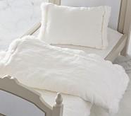 Doll Bedding - White Velvet