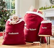 Red Velvet Santa Bag, Small