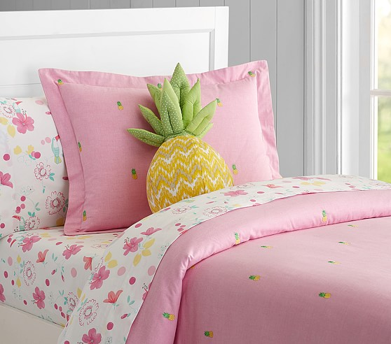 Oxford Embroidered Pineapple Duvet Cover Pottery Barn Kids