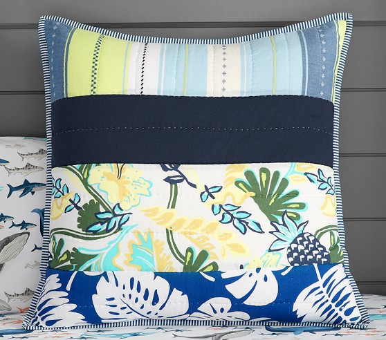 Asher Surf Patch Quilted Bedding Pottery Barn Kids