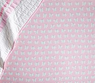 Organic Preppy Butterfly Crib Fitted Sheet, Light Pink