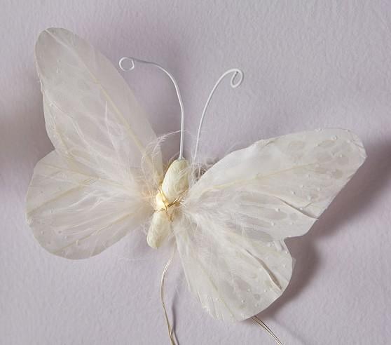 Butterfly String Lights Asda : Feather Butterfly String Lights Pottery Barn Kids