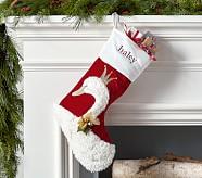 Luxe Velvet Stocking - Swan