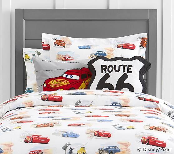Disney pixar cars duvet cover pottery barn kids for Disney pixar cars bedroom ideas